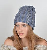 Женская шапка двойная LaVisio. Джинс 530-044