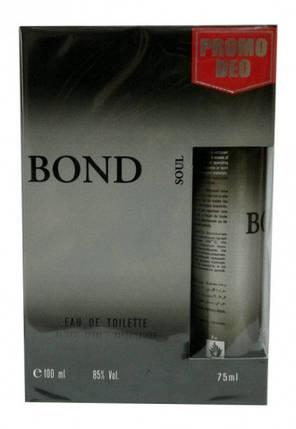 Набор мужской Bond Soul + b/s ml Духи + Дезодорант , фото 2