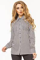 Черно-белая рубашка в полоску, фото 1