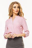 Розовая блузка с гипюровой кокеткой, фото 1