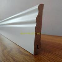МДФ плинтус  белый Ключук Волна  80х12 мм , фото 1