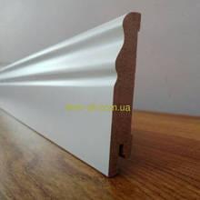 МДФ плинтус  белый крашеный Ключук Волна  80х12 мм