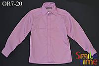 Рубашка для мальчика на кнопках р.122,128,134,140,146,152,158,164 SmileTime с длинным рукавом, лиловая
