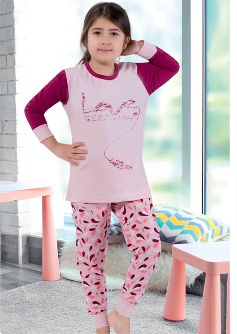 Красивая детская турецкая пижама из трикотажа для девочки ce04652aa0d5b