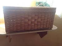 Плетёный ящик с крышкой
