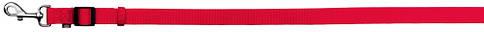 Поводок для собак нейлонTrixie Classic L-XL1,2-1,8м 25мм Красный регулируемый