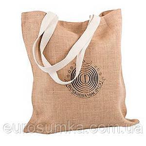 Джутовая сумка с логотипом от 100 шт.