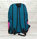 Рюкзак в стиле Vans of the Wall розовый с синим, фото 7