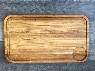 Деревянная Доска для подачи стейка Классик с соусником