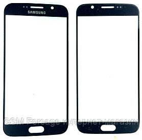 Стекло дисплея Samsung G920 S6 Black (для переклейки)