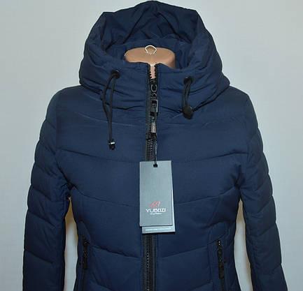 Зимова жіноча куртка приталена YUBEIZI 9080 S/XXL, фото 3