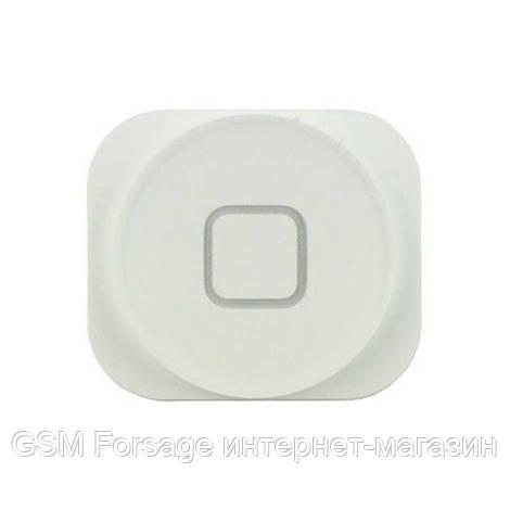 Шлейф iPhone 5 центральная кнопка + пластик White