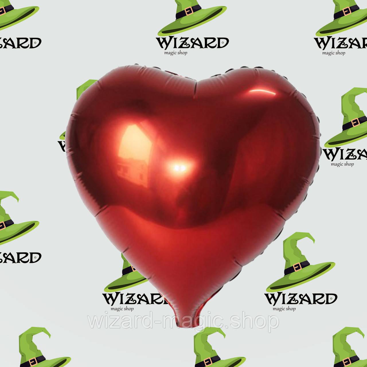 Шарик (45см) Сердечко красное