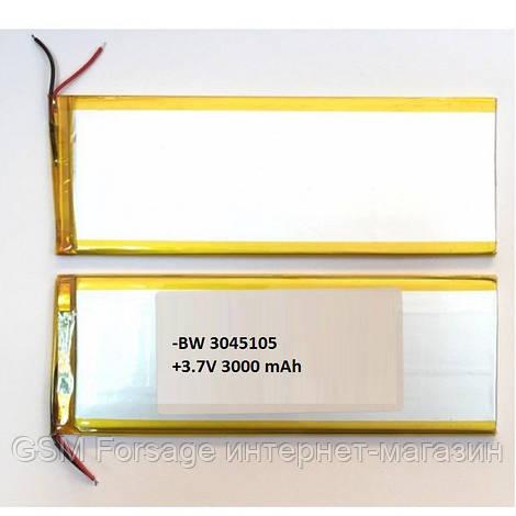 Аккумулятор универсальный 3040105P   4,0cm х 10,05cm   3,7v   3000mAh