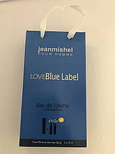 Набор мини духов мужской jeanmishel Love Blue Label3*15ml опт