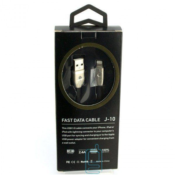 USB кабель 2.4A J-10 Fast Charge lightning