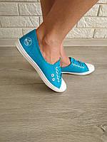 Кеды женские голубые опт, фото 1