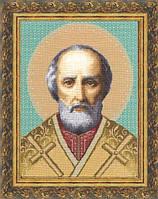 Набор для вышивки крестом Золотое Руно ПИ-002 «Икона Св.Николай Чудотворец»