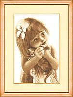 Набор для вышивки крестом Золотое Руно СВ-011 «Любимый котёнок»