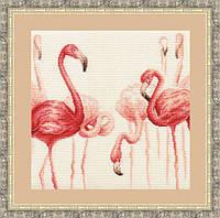 Набор для вышивки крестом Золотое Руно Ф-003 «Фламинго»