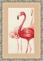 Набор для вышивки крестом Золотое Руно Ф-004 «Фламинго»