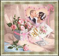 Набор для вышивки крестом Золотое Руно ФТ-001 «С Днем свадьбы»