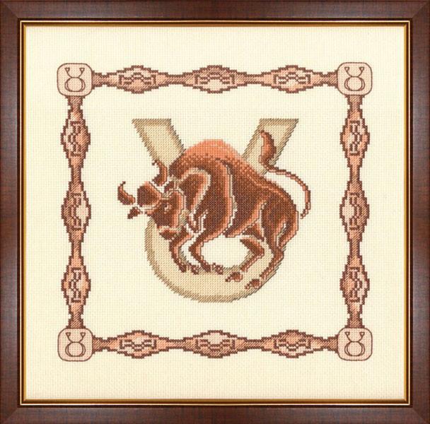 Набор для вышивки крестом Золотое Руно Г-005 «Телец»