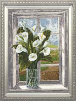 Набор для вышивки крестом Золотое Руно ЛЦ-034 «Букет на окне»