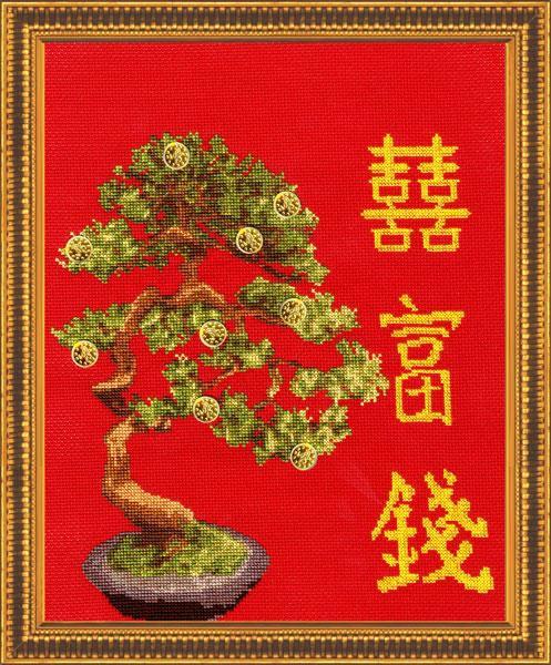 Набор для вышивки крестом Золотое Руно МГ-009 «Денежное дерево»