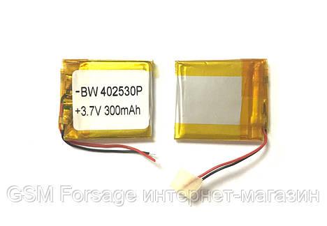 Аккумулятор универсальный 302530P   3cm х 2.5cm   3,7v   350mAh