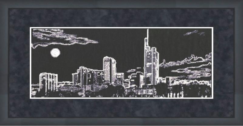 Набор для вышивки крестом Золотое Руно С-007 «Ночной город»