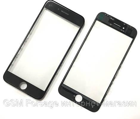Стекло дисплея iPhone 8  4,7 для переклейки с рамкой и OCA Black