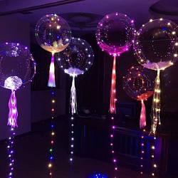 """Воздушный Шар DECO bubble 18"""" (45 см) с LED лентой"""