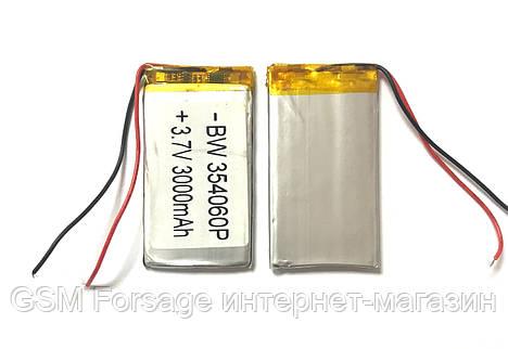 Аккумулятор универсальный 354060P   4cm х 6cm   3,7v  3000mAh