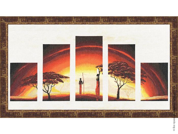 Набор для вышивки крестом Золотое Руно АИ-010 «Идиллия заката»