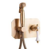 Бронзовый гигиенический душ скрытого монтажа Bianchi Liberty INDLIB2240#034VOT