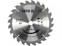 Диск пильный победитовый по дереву YATO 190х20x1.5мм 24Т/60Т