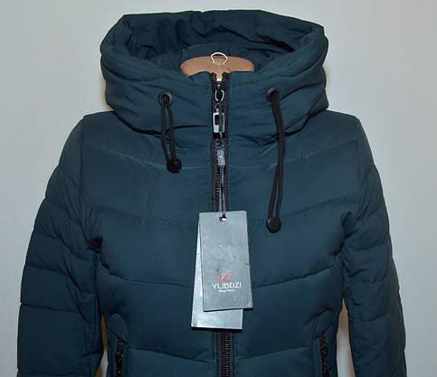 Куртка зимняя приталенная YUBEIZI 9080 (XL), фото 3
