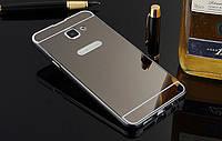 Зеркальный Чехол/Бампер для Samsung Galaxy A7 2017 / A720, Чёрный (Металлический)
