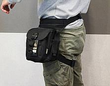 Полицейская универсальная (набедренная) сумка Swat Black (с307 черная), фото 2