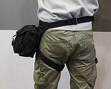 Полицейская универсальная (набедренная) сумка Swat Black (с307 черная), фото 3