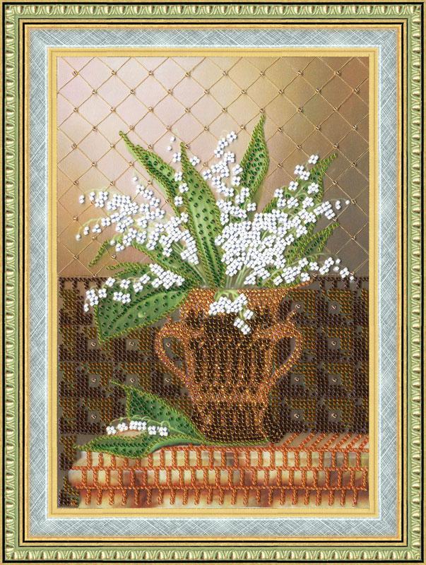 Набор для вышивки бисером Золотое Руно РТ-031 «Душистые ландыши»