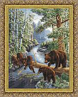 Набор для вышивки крестом Золотое Руно ДЖ-035 «Медвежий край»