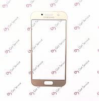 Стекло корпуса для Samsung Galaxy A3 2017 A320 Gold, фото 1