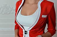 Жакет двухцветный арт. 743 красный с белым краем, фото 1