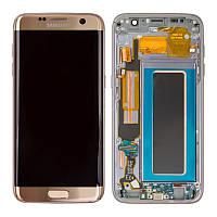 Дисплейный модуль Samsung Galaxy S7 EDGE G935 с сенсором Золотой/Gold GH97-18533C