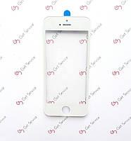 Стекло корпуса для Apple iPhone 5, с рамкой, с ОСА пленкой Белое/White, фото 1