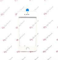 Стекло корпуса для Apple iPhone 5S, с рамкой, с ОСА пленкой Белое/White
