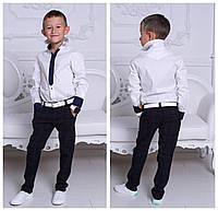 Рубашка для мальчиков белая 100% хлопок с 8 до 13 лет, фото 1