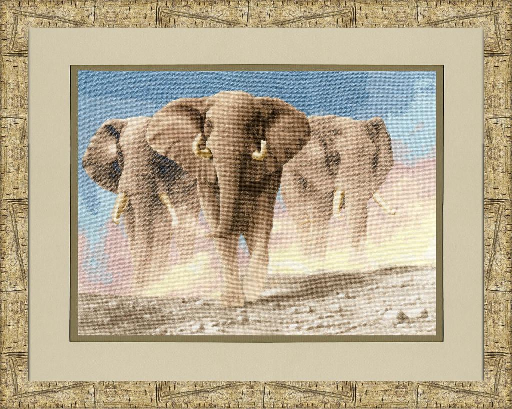 Набор для вышивки крестом Золотое Руно ЖС-008 «Сердце Африки по мот.карт.Венинга Я.»